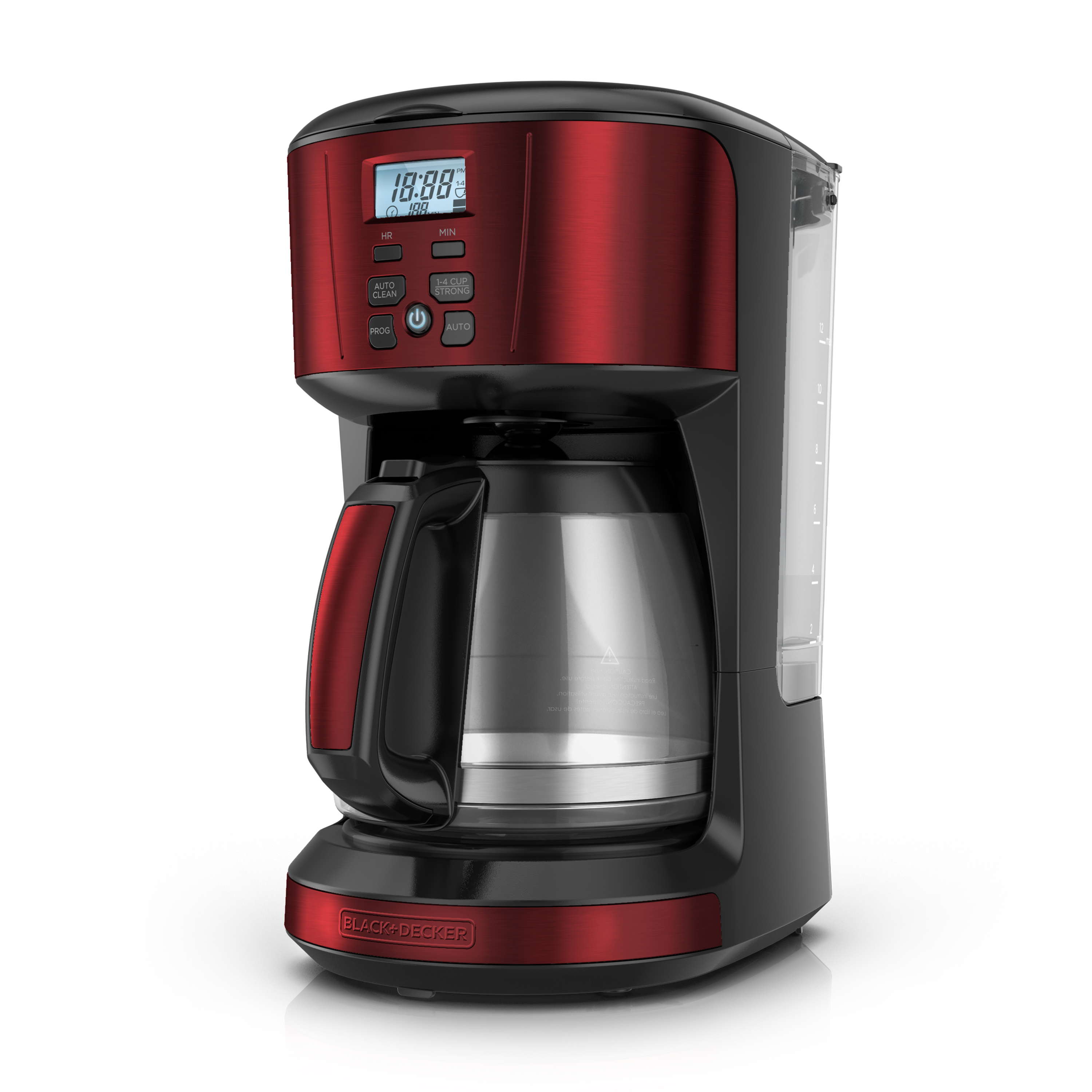 Black & Decker 12-Cup Programmable Coffee Maker with Removable Water Reservoir, Red, CM4110R by BLACK DECKER