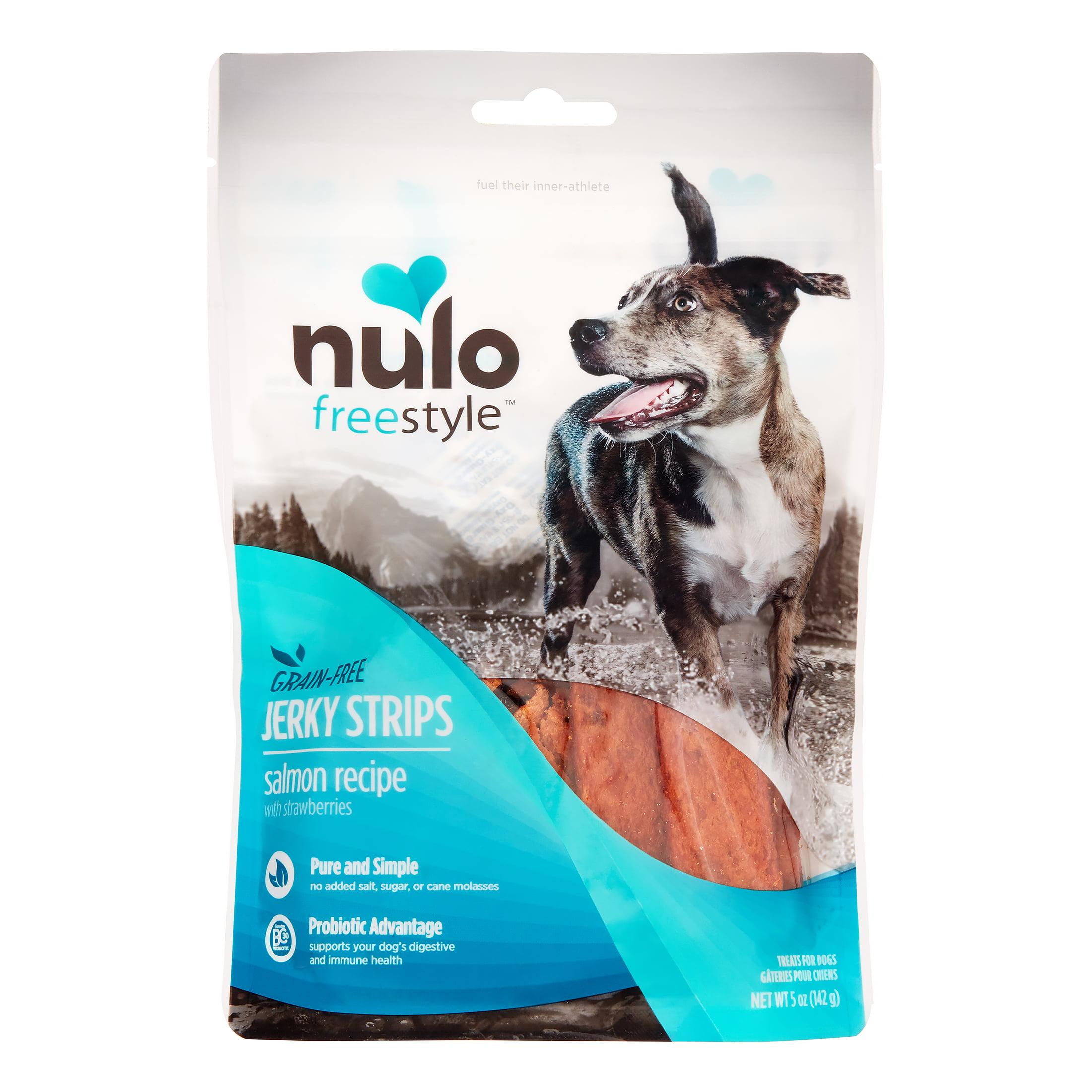 Nulo FreeStyle Dog Jerky Salmon Strawberry Treat 5 Oz