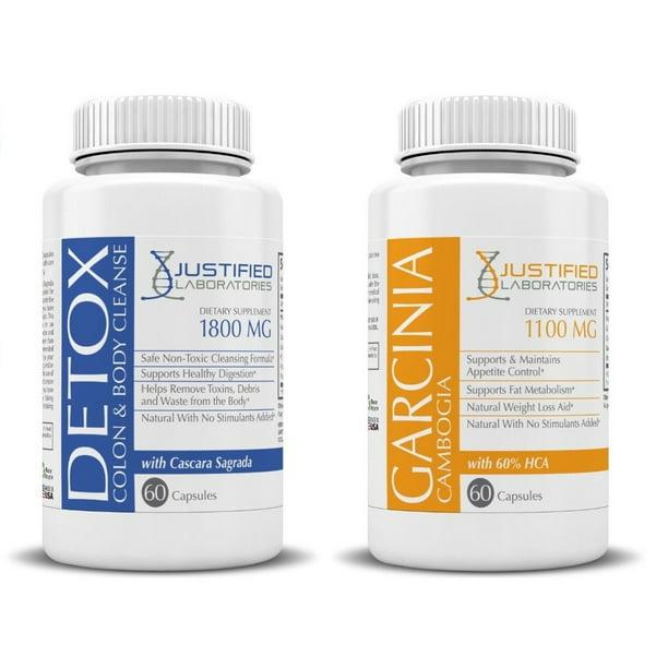Garcinia Cambogia 100% Pure HCA & Detox Colon Cleanse Maximum Strength Cleansing Diet Weight Loss Pills