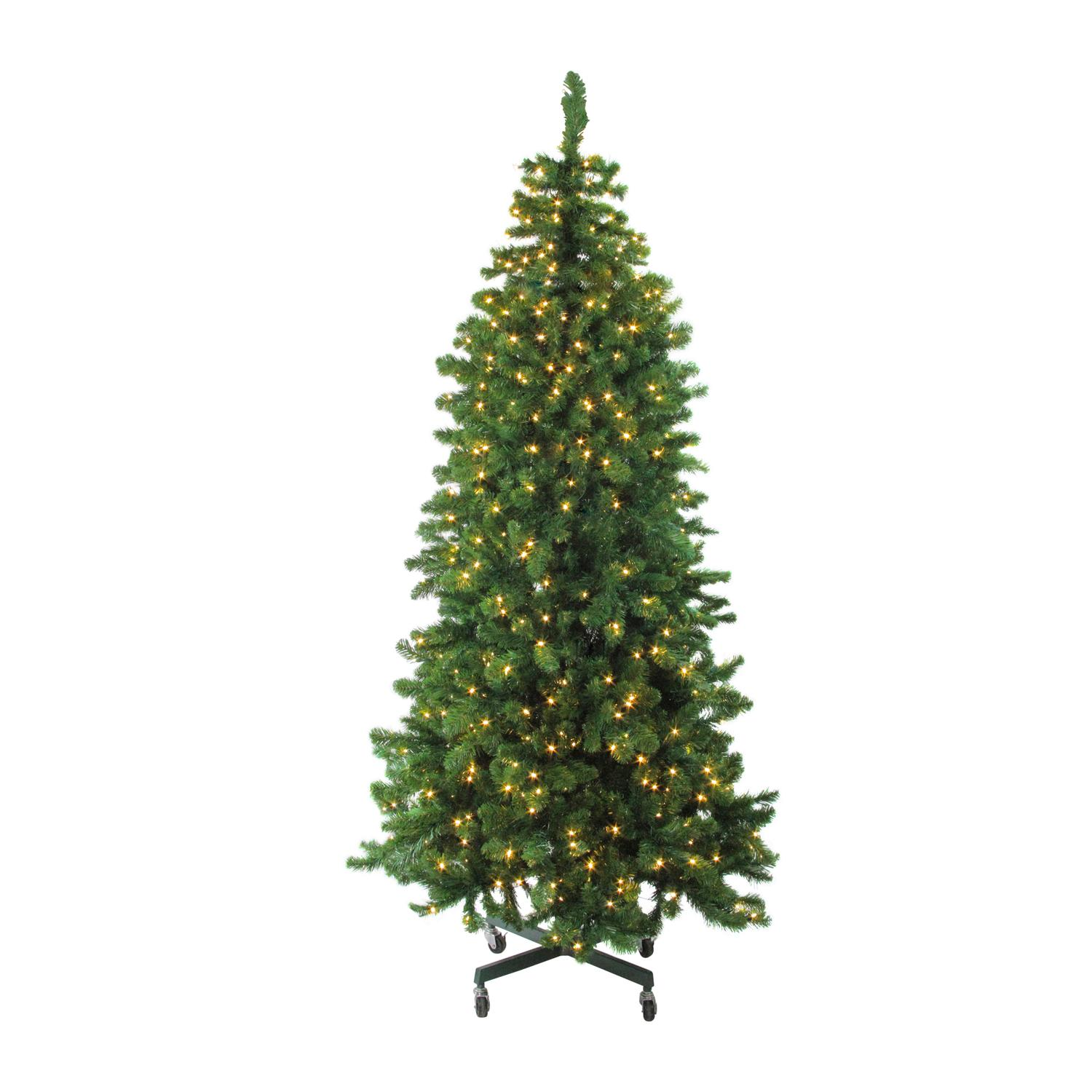 Northlight LED Olympia Pine 7.5 ft. Pre-Lit Artificial Slim Christmas Tree