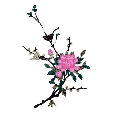 Unique Bargains Polyester Flower Design DIY Sewing Clothes Neckline Patch Lace Applique -