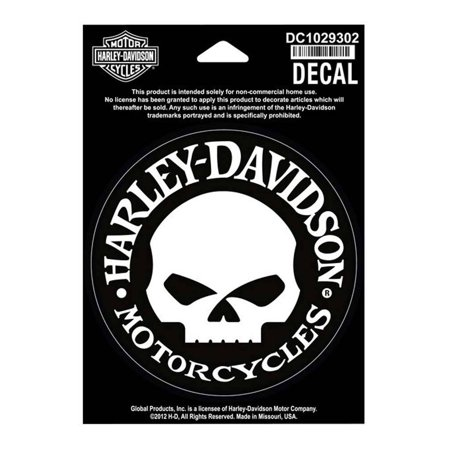- Harley-Davidson Hubcap Skull Small Decal, 4'' W x 4'' H DC1029302, Harley Davidson