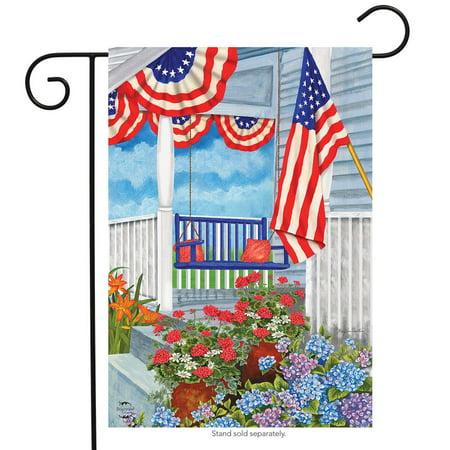 Patriotic Porch Spring Garden Flag Floral 12.5