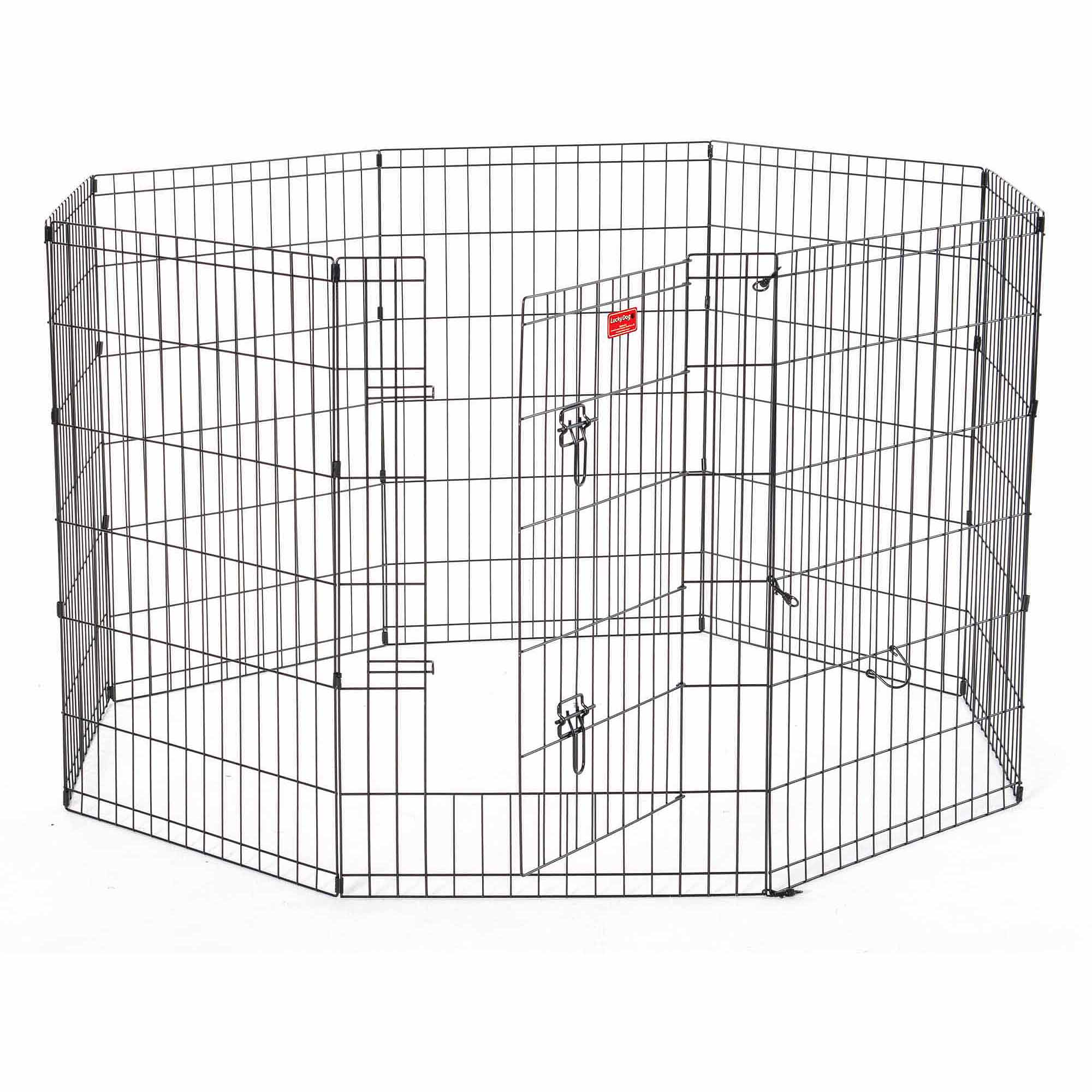 Lucky Dog Heavy-Duty Pet Exercise Pen with Stakes, 36""