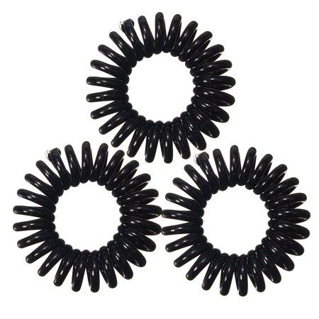 3Pcs/Pack Spiral Slinky Hair Head Bands Elastics Bobbles Ties Scrunchies Accessories - Slinky Hair Ties