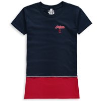 Cleveland Indians Refried Apparel Girls Preschool T-Shirt Dress - Navy