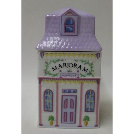 "- New Marjoram Spice Jar – ""The Lovely Spice Village"" – Fine Porcelain Spice Jar by , 1989, Fine Porcelain. Exquisite details & quality craftsmanship. By Lenox"