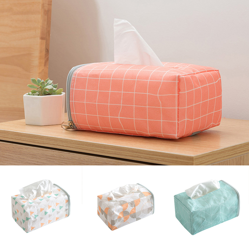 Girl12Queen Cloth Tissue Paper Box Napkin Storage Case Holder for Home Auto Car Vehicle