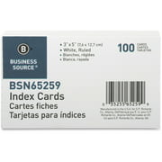Business Source Ruled White Index Cards, 100 / Pack (Quantity)