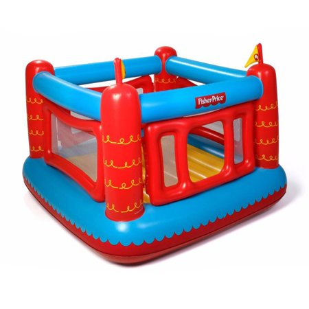 - Fisher Price Bouncetastic Inflatable Castle Bouncer With Removable Mesh Walls