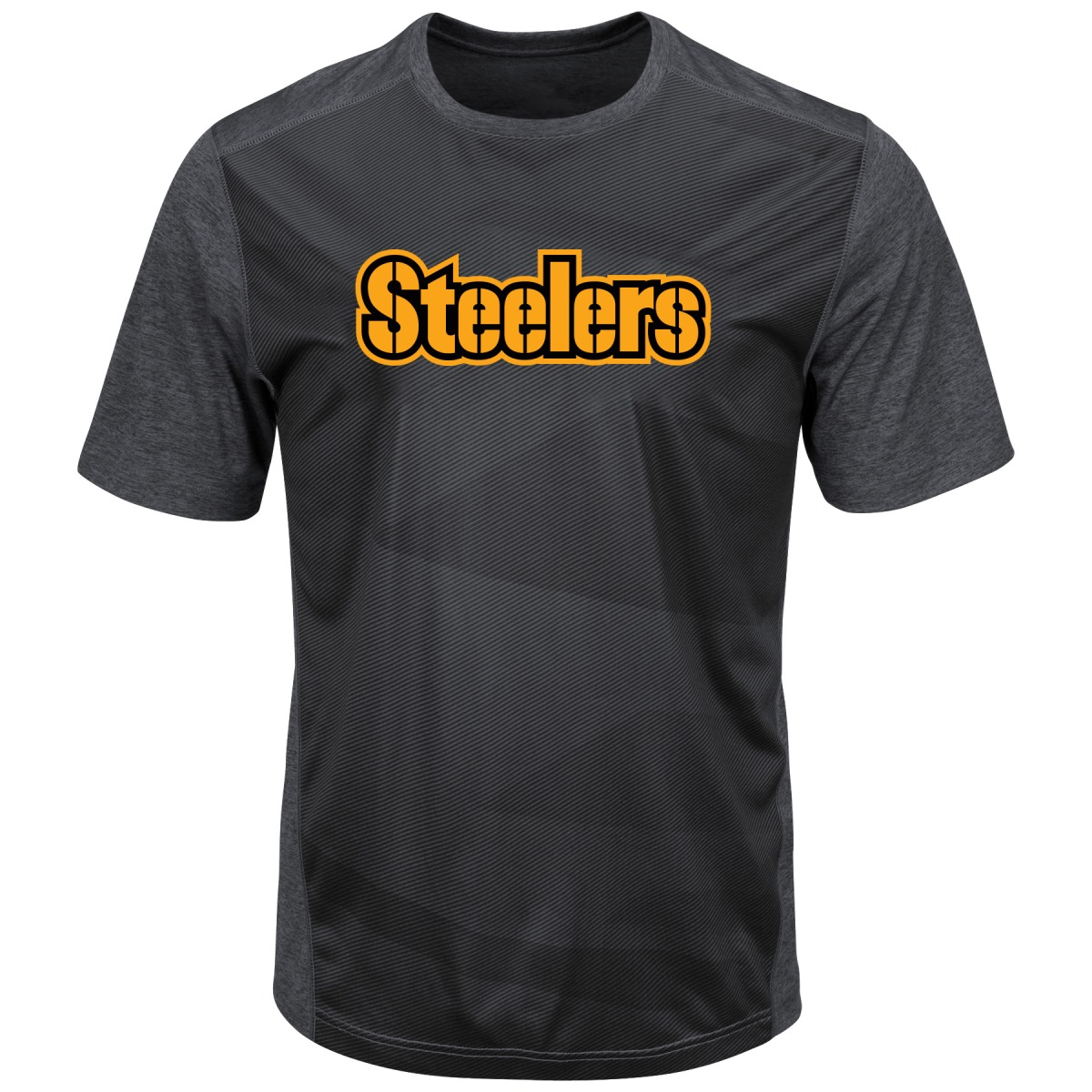 "Pittsburgh Steelers Majestic NFL ""Gridiron"" Men's Premium Reflective T-Shirt"