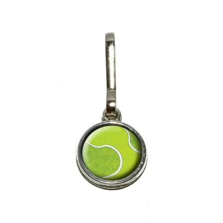- Tennis Ball Sporting Goods Sportsball Charm Zipper Pull