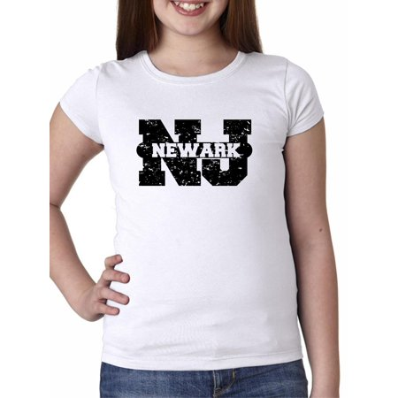 Newark, New Jersey NJ Classic City State Sign Girl's Cotton Youth