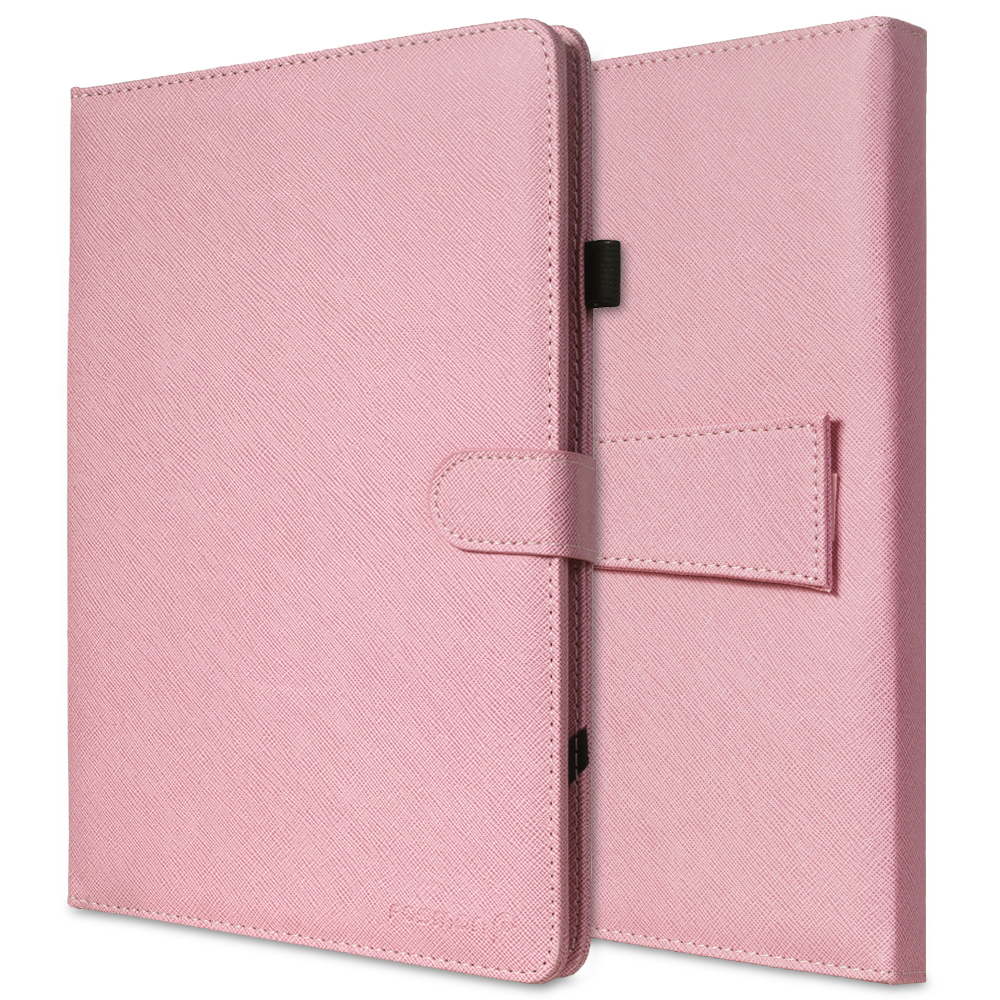 "Fosmon OPUS KEYBOARD PU Leather Stand Case Cover for 10"" Tablet w/ Micro USB Keyboard and Capacitive Stylus - Light Pink"