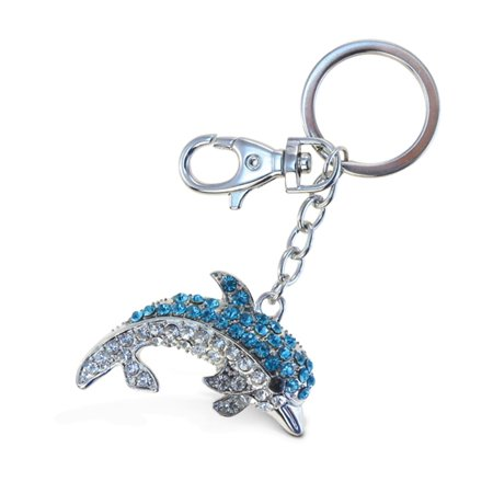 Sparkling Charms - Blue Dolphin 2 (Miami Dolphins Football Charm)