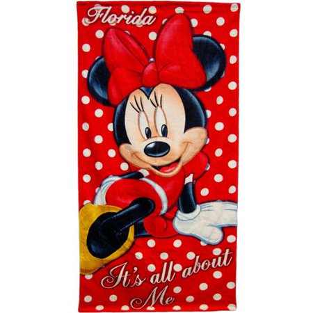 Disney Beach Towel, Minnie Mouse (Kids Bathroom Sets Minnie Mouse)