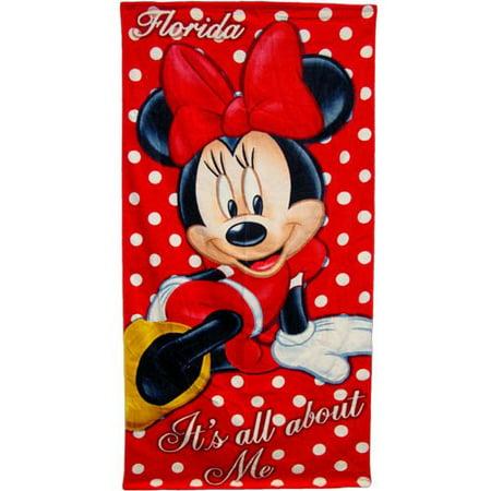 Disney Beach Towel, Minnie Mouse