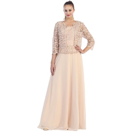 Formal Mother Of The Bride Groom Dress With Matching Jacket