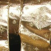 "Gold Lamé Glitter Star Wired Craft Ribbon 2"" x 40 Yards"