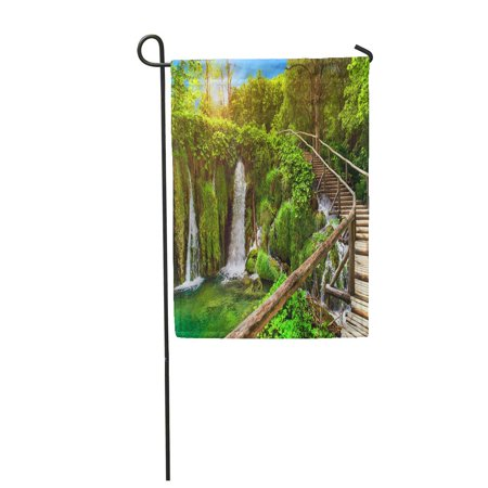 KDAGR Amazing Waterfall in Plitvice Lakes National Park Croatia Europe Majestic View Garden Flag Decorative Flag House Banner 28x40 (Amazing Waterfall)
