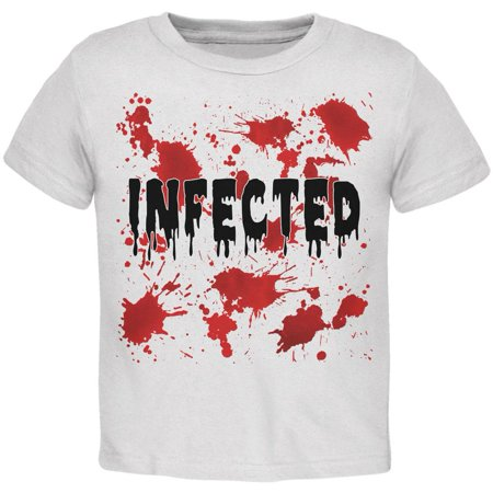 Halloween Infected Blood Splatter Toddler T Shirt