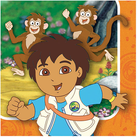16 Go, Diego, Go! Beverage Napkins by AMERICAN GREETINGS CORPORATION