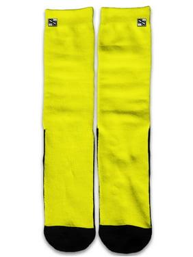 22b222f71f6c Product Image Custom Elite Style Athletic Sport Socks Crew 18 Inch   Bright  Yellow