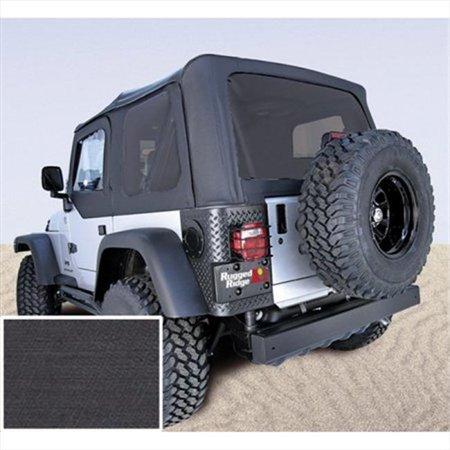 Soft Top, Door Skins, Black, Tinted Windows, 97-02 Jeep Wrangler (2012 Jeep Wrangler Tinted Soft Top Windows)