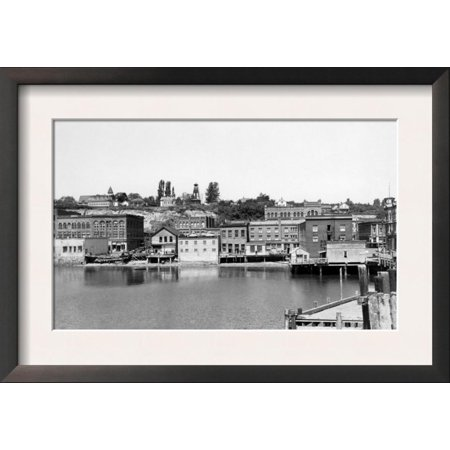 Port Townsend, WA Waterfront Town View Photograph - Port To... Framed Art Print Wall Art