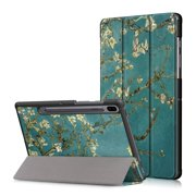 EpicGadget Case for Galaxy Tab S6 10.5 Inch (SM-T860/SM-T865) - Auto Sleep/Wake Slim Lightweight Tri-Fold Stand Protective Shell Cover Case Samsung Galaxy Tab S6 10.5 Released in 2019 (Blossom)