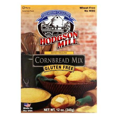Hodgson Mill Sweet Yellow Gluten Free Cornbread Mix, 12 Oz (Pack of