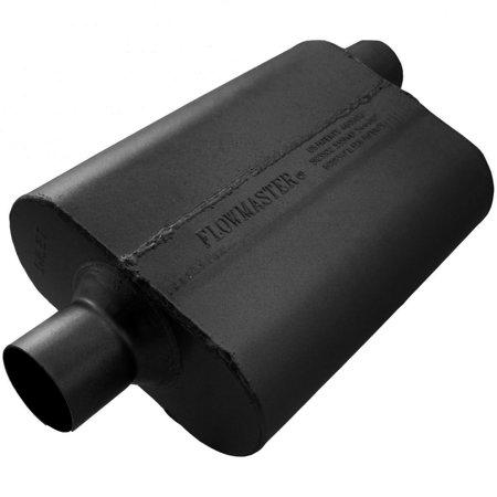 Series Delta Flow Muffler - Flowmaster 942542 40 Delta Flow Muffler - 2.50 Center In / 2.50 Offset Out - Aggressive Sound