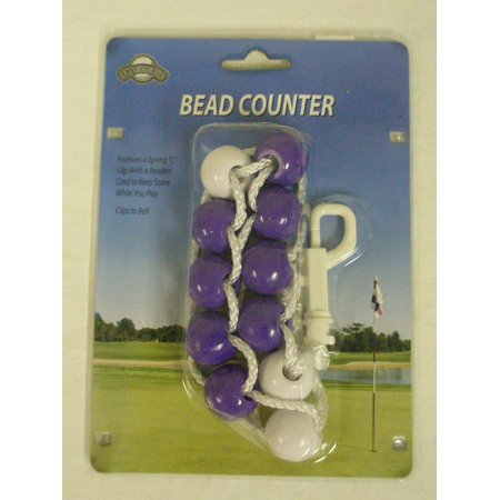On Course Bead Counter Scorekeeper (Purple) Golf Shot Tracker NEW - Glow In The Dark Golf Course