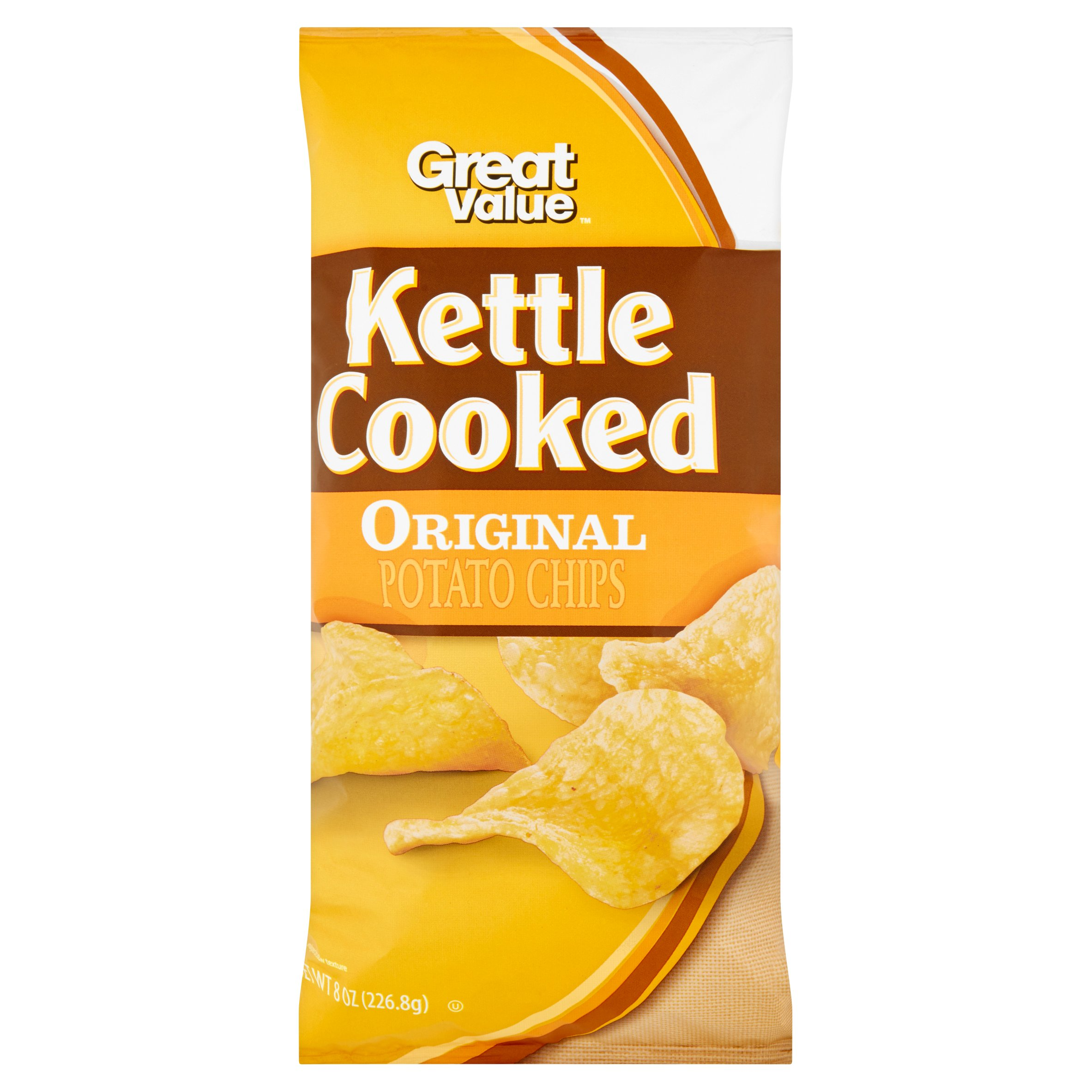 Great Value Kettle Cooked Original Potato Chips, 8 oz by Wal-Mart Stores Inc.