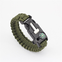 Product Image Paracord Survival Bracelet Compass Flint Fire Starter Whistle  Camping Gear Kit ( 5c38d0fd366