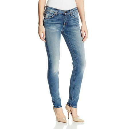 (7 For All Mankind Women's The Slim Cigarette Jeans, Absolute Heritage, Size 29)