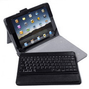 HDE 2017 iPad 9.7 Keyboard Case - Vintage Folio Cover Stand with Removable Wireless Bluetooth Keyboard for New Apple iPad 9.7 inch (7th generation iPad, March 2017 Release)-Black