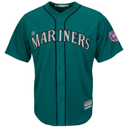 Ken Griffey Jr. Seattle Mariners MLB Cooperstown Teal Replica Jersey HOF Patch by