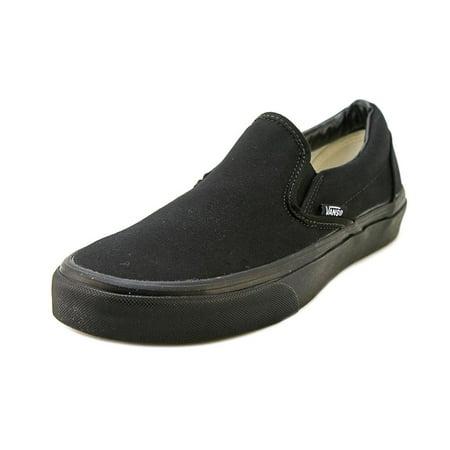 Vans Classic Slip-On Men  Round Toe Canvas Black Loafer