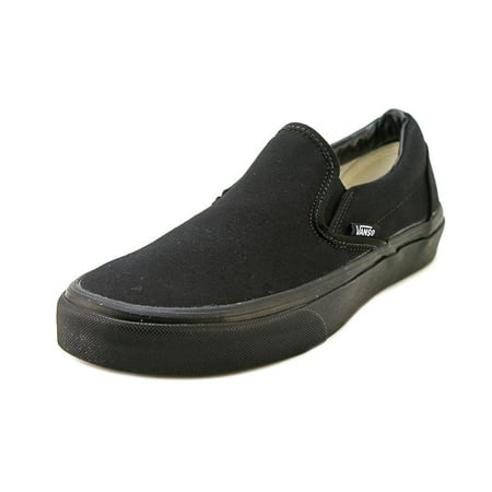 Vans Classic Slip-On Men  Round Toe Canvas Black - All Black Toddler Vans