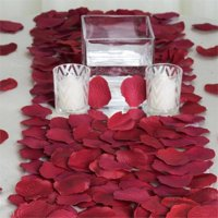 Efavormart 500pcs Artifical Real Looking Rose Petals for Wedding Aisle Party Favor Jewelry Candy Sheer Flower Decoration