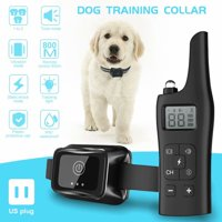 VicTsing 1 in 1 IP67 Waterproof Dog Training Collar 800M Remote Control Electric Shock Caveat Pet Supplies Electronic Device With LCD Display US Plug