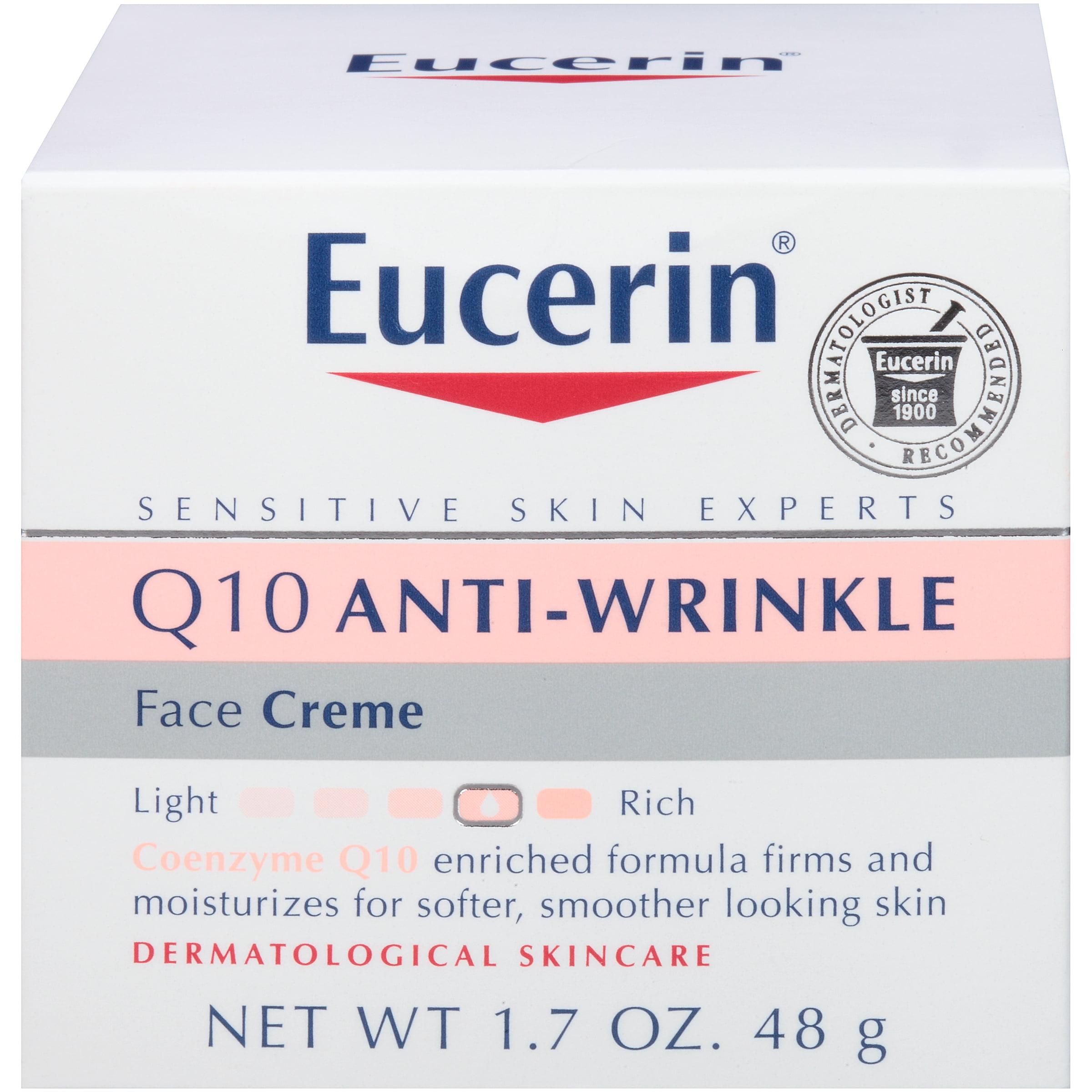 d9e194588ca Eucerin Q10 Anti-Wrinkle Sensitive Skin Face Creme 1.7 oz. - Walmart.com