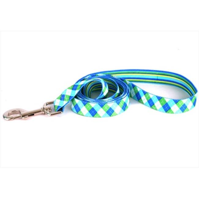 Yellow Dog Design BSGS105LD 3/4 inch x 60 inch Blue and Green Stripes Argyle Lead - Small/Medium