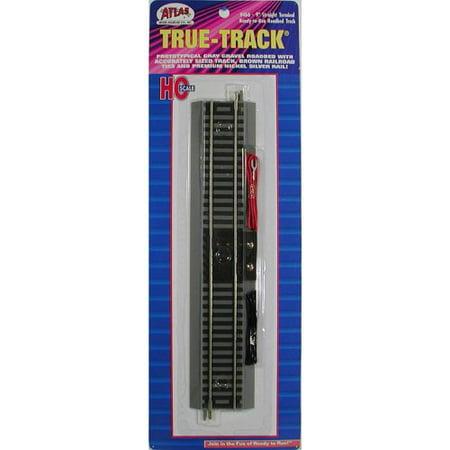 Atlas HO Scale True-Track 9 inch Terminal Straight (Gray Black Ho Scale)