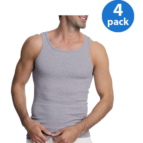 Hanes Mens ComfortSoft Assorted Tagless Tanks 4-Pack