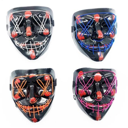 Team H Halloween Party (Blinkee REWHPMAC Rave EL Wire Halloween Party Mask, Assorted)