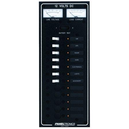 PANELTRONICS DC 12 POSITION CIRCUIT BREAKER PANEL WITH 3 Position Circuit Breaker Panel