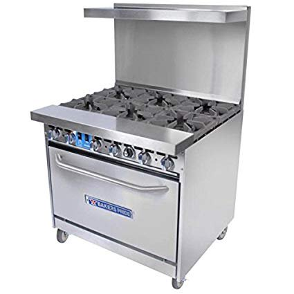 Bakers Pride 36-BP-6B-S30 NG 36-in Range w/ 6-Burners & Standard Oven, Back Guard, NG, (Bakers Pride Mini)