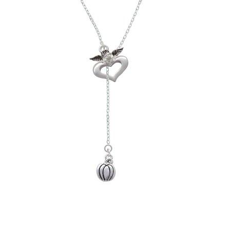 Small Pumpkin - Guardian Angel Lariat Necklace - Guardian Angel Necklace